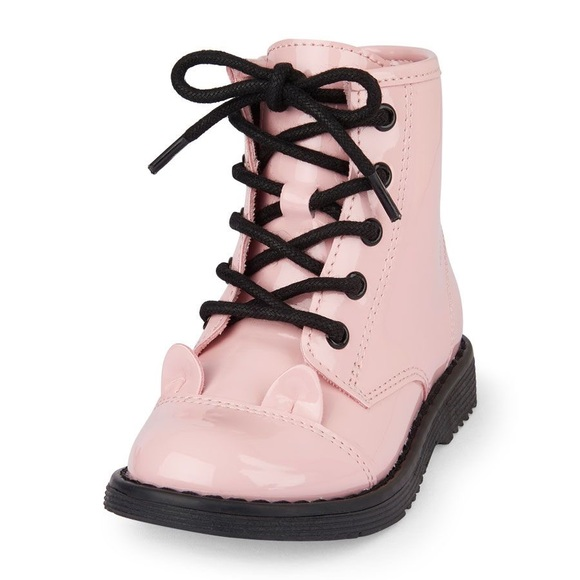 quality first best online where can i buy Toddler Pink Cat Doc Martens Style Boots